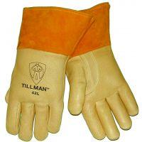 Tillman Products 42L - Gunn Cut Pigskin Leather MIG Welding Gloves; Large, Tan