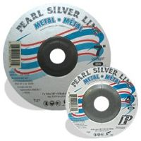 """Pearl Abrasives DC4003T - 4"""" x 1/4"""" x 3/8 Silver Line AO Depressed Center Wheels, A24R"""