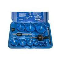 Blu-Mol 9591 - 9 piece Locksmith's Hole Saw Kit