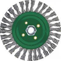 """Lessmann 471808 - 4"""" x 5/8-11"""" Stringer Bead Pipeline Wire Brush (stainless steel)"""